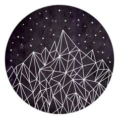 Geometric Pattern Poster, Mountain Art Print, Triangles, Geometry, Home Decor, Digital, Download, Printable, Nursery, Design, Stars