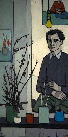 ber-mengels-zelfportret zelfportret ca. 1960 olieverf op board 60x123
