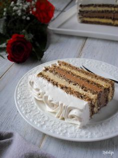15 najpopularnijih recepata u - Mystic Cakes Torte Recepti, Kolaci I Torte, Bakery Recipes, Cookie Recipes, Dessert Recipes, Brze Torte, Torte Cake, Food Garnishes, Chocolate Cheesecake