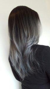 Black Gray #Ombre hair