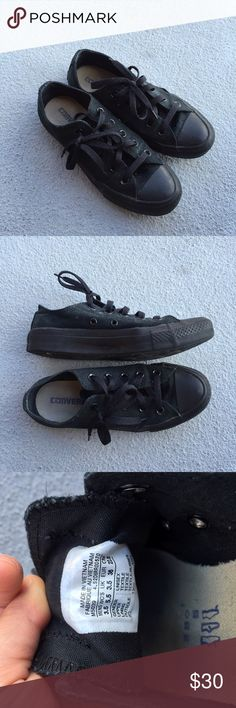 Converse classic black shoes Very classic! Style with everything. #movingsale Converse Shoes Sneakers