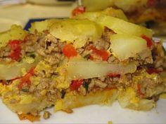 Reteta pentru Musaca de cartofi şi carne tocată Fett, Lasagna, Ethnic Recipes, Lasagne
