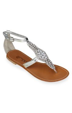 small and large stone sandal