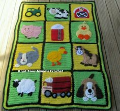 Fantastic farm theme blanket :o)