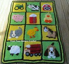 Fantastic farm theme blanket :o)