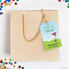 Party favor tags are a customer favorite. They're a must-have for every party! You can... Golf Party, Diy Party, Party Favor Tags, Party Favors, Tag Design, Self Healing, Address Labels, Party Printables, Make Your Own