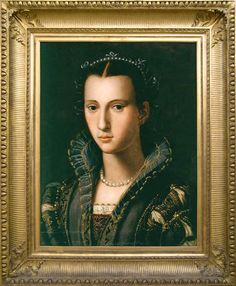 Artist or the Worshop of Alessandro Allori (Italian Mannerist Painter, 1535-1607) Portrait of a Woman 1570-80
