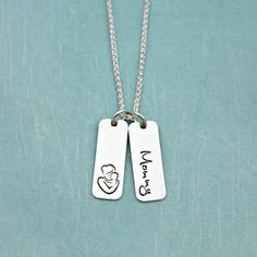 Lux Accessories Mother Daughter Mom BFF Best Friends Parent Mommy Girl  Necklac