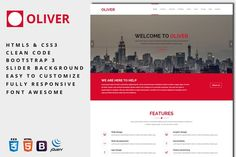 Oliver - One-Page Business Template. Bootstrap Themes. $8.00