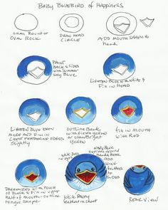 Baby Bluebirds of Happiness Tutorial  For painting on rocks!!! :)
