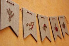 ОлесевеселО: Новогодние флажки Buntings, Decoupage, Christmas Crafts, Cards, Blog, Noel, Bunting Garland, Xmas Crafts, Map