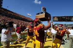 The Cy-Hawk Trophy stays in Ames for the year! Beating Iowa in 3 OT's 44-41 September 10, 2011 PRICELESS :)