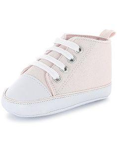 Hoge stoffen sneakers roze Jongens babykleding - Kiabi