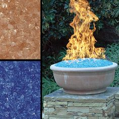 fire glass gems Fire glass produces more heat  that real wood.  There is no smoke, they are odorless and produce no ash.  They give off no toxic deposit