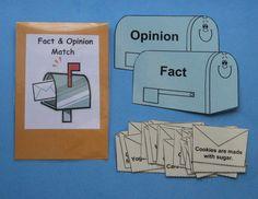 Teacher Made Literacy Center Resouce Fact & Opinion