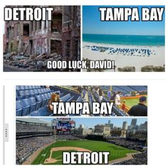 On the 2014 trade David Price for Austin Jackson & Drew Smyly, a Tampa news affiliate tweeted the top picture but Detroit had the last laugh!