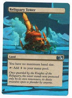 MTG Altered Painted Reliquary Tower M13 FREE SHIPPING