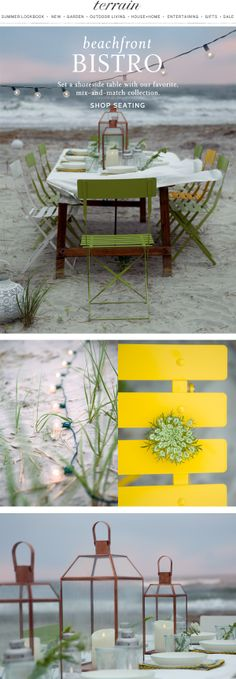 Our favorite mix and match summer seating goes beachfront. #bistro June 16