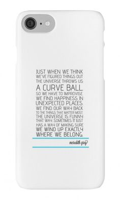'Grey's Anatomy - Curveball' iPhone Case/Skin by swiftxgreys Birthday Gifts For Teens, Friend Birthday Gifts, Best Grey's Anatomy Quotes, Cute Couple Memes, Grey Quotes, Senior Quotes, Youre My Person, Meredith Grey, Save Life