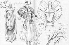 Alexander Mcqueen sketchbook