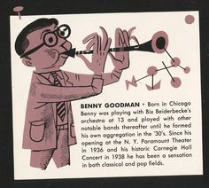 JIm Flora Artwork for 1953 Columbia Records Calendar Benny Goodman Bix Beiderbecke, Paramount Theater, Columbia Records, Modern Graphic Design, Graphic Art, Cartoon Styles, Graphic Illustration, Retro Illustrations, Album Covers
