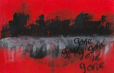 "creativedelirium: ""gone feb 2015 mixed media """