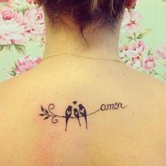 """With an extra baby bird and """"love"""" Cool Small Tattoos, Tattoos For Kids, Tattoos For Women Small, Tatoo Designs, Tattoo Designs And Meanings, Sister Tattoos, Friend Tattoos, Cover Up Tattoos, Body Art Tattoos"""