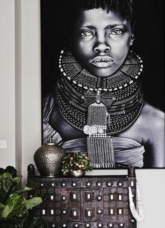 afrika deko inspiration afrikanische frau