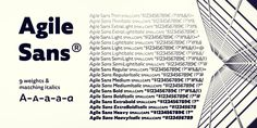 Agile Sans Font: Agile Sans is a contemporary humanist font family with classicist roots. Hence its name, Agile Sans suits many occasions from branding . Humanist Font, Font Family, Type Design, Fonts, San, Feelings, Desktop, Vectors, Logo