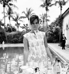 Lilly Pulitzer in her own design in Palm Beach, Florida. Photographed by Slim Aarons in 1955.