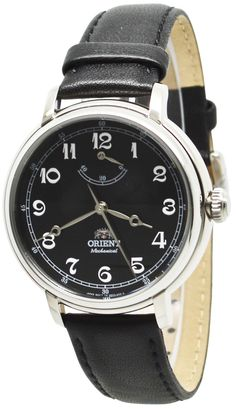 Orient Watch Company, Limited is a manufacturer of luxury mechanical watches. Orient Watch was founded in Hino, Tokyo, Japan. Since it has been a subsidiary of Seiko Epson Corporation and became a wholly owned subsidiary in Cheap Watches, Watches For Men, Orient Watch, Watch Companies, Mechanical Watch, Seiko, Omega Watch, Black Leather, Band