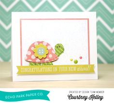 Congratulations Card by @courtney_kelley featuring designer dies and products by #echoparkpaper.