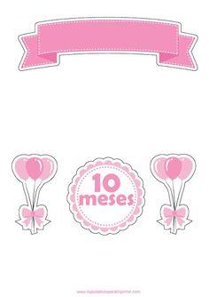Topo de bolo mesversario de menina Boys 1st Birthday Cake, Cake Factory, Fiesta Decorations, Handmade Baby Gifts, Nash Grier, Balerina, Dragon Ball Gt, Baby Prints, Cover Pages