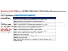 neu 2013: technisches woerterbuch mechatronik