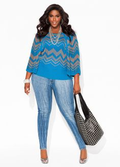 Ashley Stewart....I just brought these jeans from Ashley Stewart now I need the top
