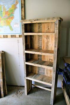 Customizable Reclaimed Pallet Wood Bookcase by FasProjects on Etsy