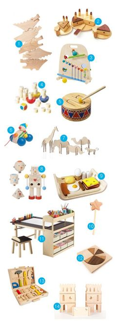 14 best wooden toys. Love the idea of wood toys with all the recalls in everything .....for the future kiddos