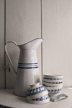 French Enamel Milk Jug in from Chez Zoe