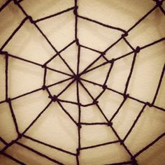 Crafty Lumberjacks: I'm walking in a spider web...of yarn!