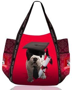 keladeco.com - #sac cabas chien #bouledogue teo high school rouge, idée cadeau chien - TEO JASMIN