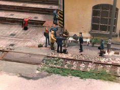 """149_diorama ferroviario """"Rimessa locomotive daposito Pistoia"""""""