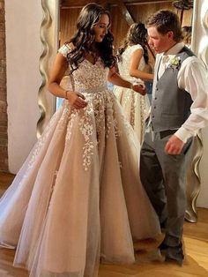 A Line Cheap Nude Quinceanera Dress Lace Appliques Cap Sleeve Beaded Prom Dresse. - - A Line Cheap Nude Quinceanera Dress Lace Appliques Cap Sleeve Beaded Prom Dresses Source by Sisastoreofficial Wedding Dress Black, Wedding Dress Chiffon, Beaded Prom Dress, Dress Prom, Wedding Dresses, Modest Wedding, Elegant Wedding, Bridal Gowns, Nude Prom Dresses