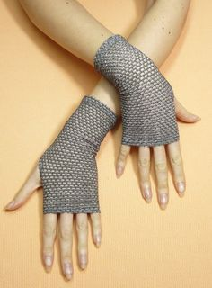 Hey, I found this really awesome Etsy listing at https://www.etsy.com/au/listing/179485552/short-fingerless-gloves-silver-disco