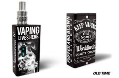 Wrap for Cloupor DNA 30 Box Mod Vapor Skin Decal Vaporizer Sticker Vape OLD TIME #Cloupor