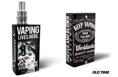 Wrap for Cloupor DNA 30 Box Mod Vapor Skin Decal Vaporizer Sticker Vape OLD TIME #Cloupor