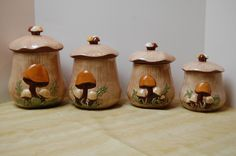 Hey, I found this really awesome Etsy listing at https://www.etsy.com/uk/listing/249117804/vintage-arnels-mushroom-canister-set