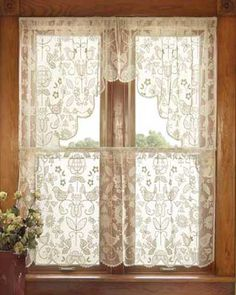 Find This Pin And More On Lace Curtains Ready Made, Valances And Tiers By  Oldeworldelace.