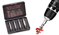Up to Four Damaged Screw Extractor Sets