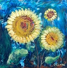 Photobomb, encaustic landscape by Catharine Clarke | Effusion Art Gallery + Cast Glass Studio, Invermere BC Modern Art, Contemporary Art, Quirky Decor, Cast Glass, Summer Landscape, Encaustic Painting, Canadian Artists, Colorful Paintings, Landscape Paintings