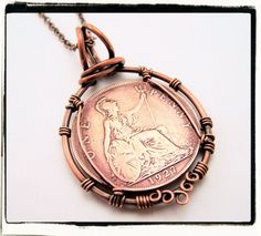 1927 Great Britain King George VI Coin Pendant | JewelryLessons.com